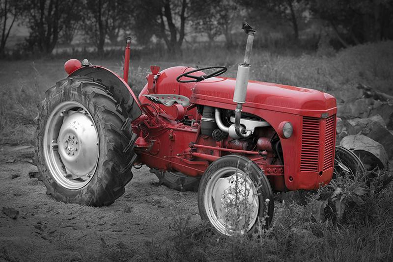 2 Tracteur rouge