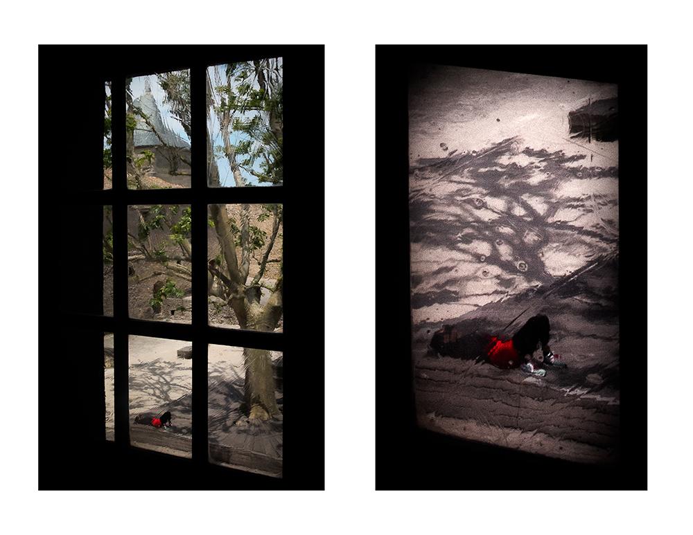 Couleur 1 - Par la fenêtre Sieste sur un banc r